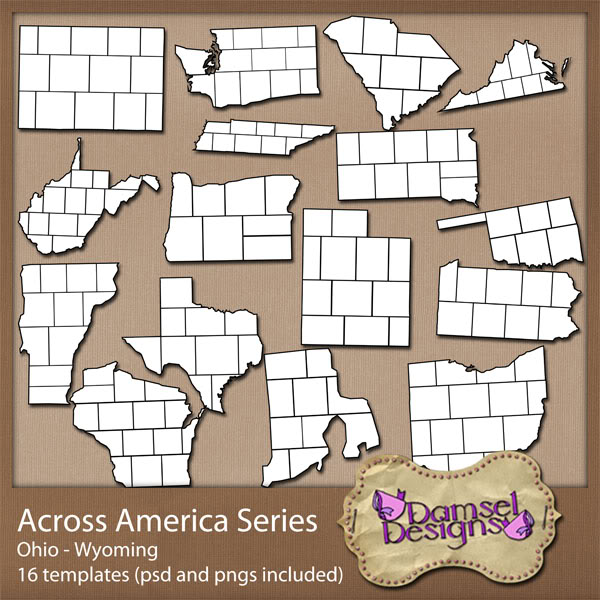 Damsel Designs Products DD_AcrossAmericaSeries_set3
