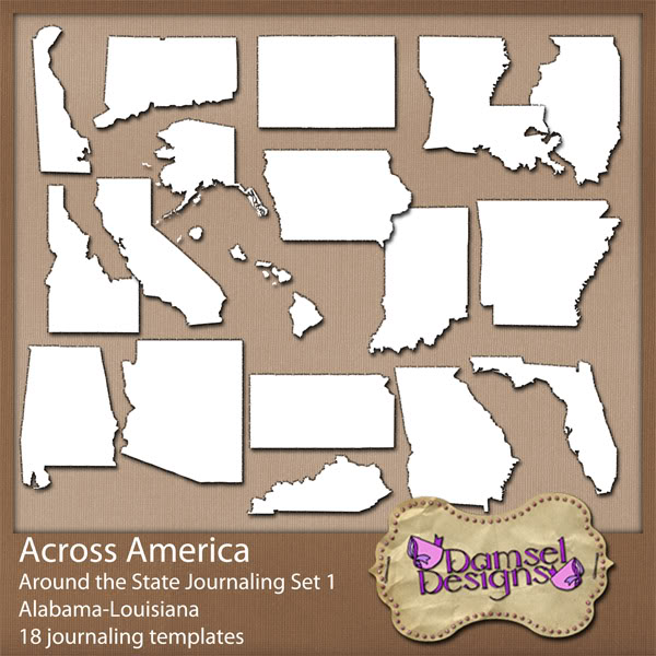 Damsel Designs Products DD_AcrossAmerica_JournalingPaths_Around_Set1preview