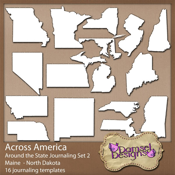 Damsel Designs Products DD_AcrossAmerica_JournalingPaths_Around_Set2preview
