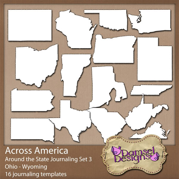 Damsel Designs Products DD_AcrossAmerica_JournalingPaths_Around_Set3preview