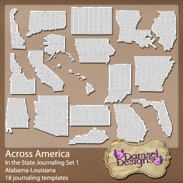 Damsel Designs Products DD_AcrossAmerica_JournalingPaths_In_Set1preview