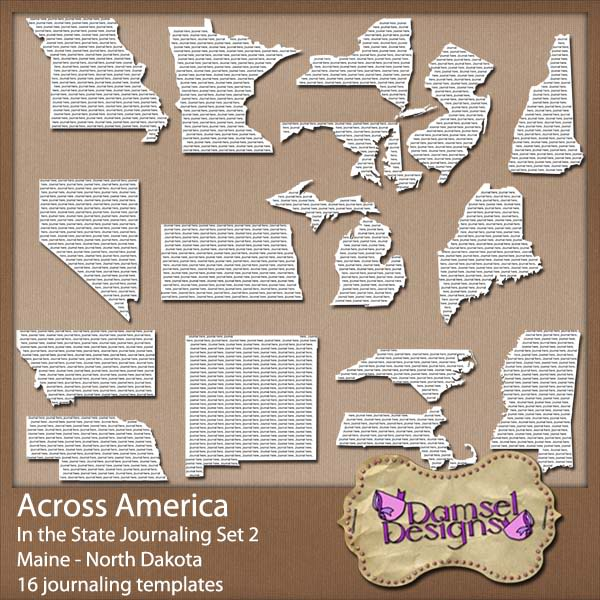 Damsel Designs Products DD_AcrossAmerica_JournalingPaths_In_Set2preview