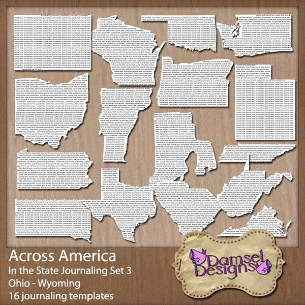 Damsel Designs Products DD_AcrossAmerica_JournalingPaths_In_Set3preview