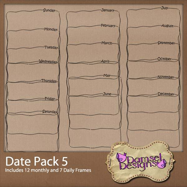 Damsel Designs Products DD_DatePacks_DatePack_5_Preview