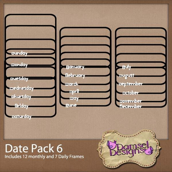 Damsel Designs Products DD_DatePacks_DatePack_6_Preview