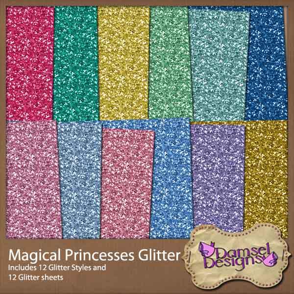 Damsel Designs Products DD_MagicalPrincessesGlitter