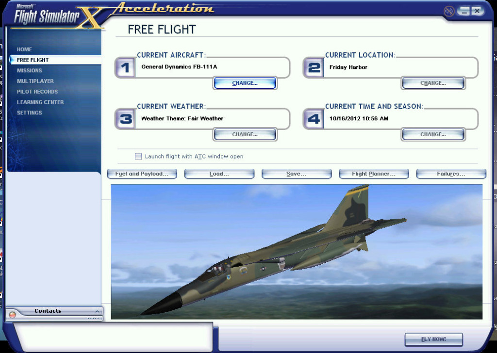 Alphasim F-111 for FSX SP2 new release throttle stuck FSXACCE