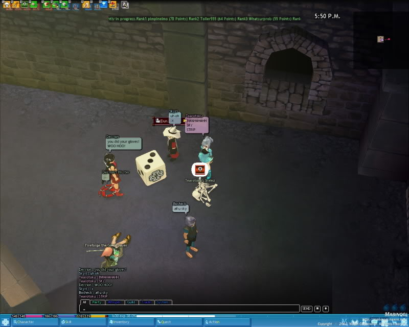 A little game of Strip Dice with a few friends Mabinogi_2009_06_15_004
