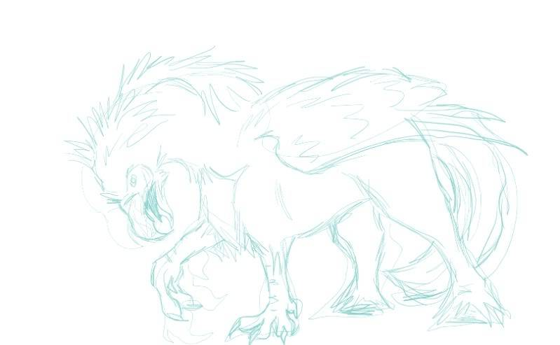 TABLET DRAWING Hippogriffsketch