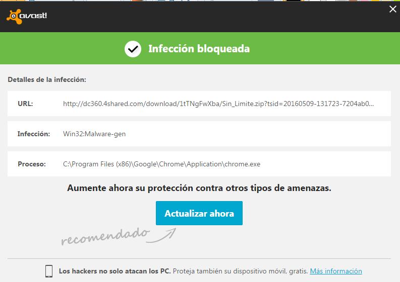 Problema con la versión Sin Limite y felicitaciones Malware%202