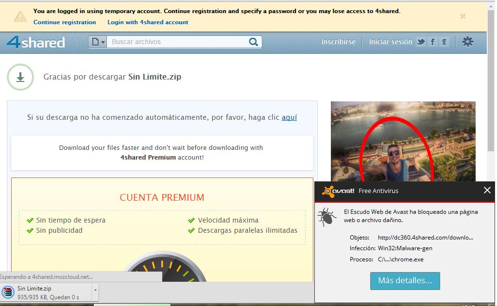 Problema con la versión Sin Limite y felicitaciones Malware1