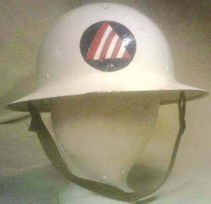 Civil Defense Air Raid Warden's Helmets PICT0049