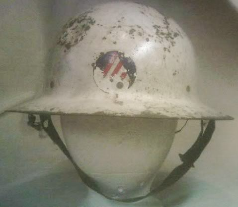 Civil Defense Air Raid Warden's Helmets PICT0051