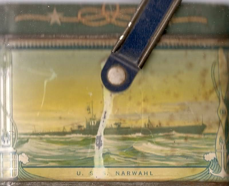 1930's USN motif biscuit tin Ussnarwhalss167