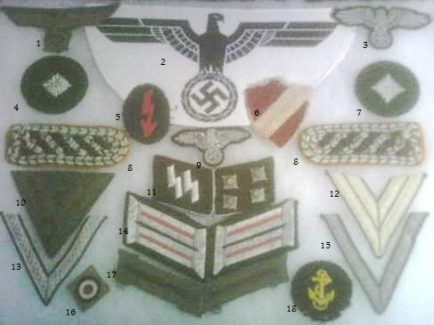 Some WW2 German medals and insignia PICT0085