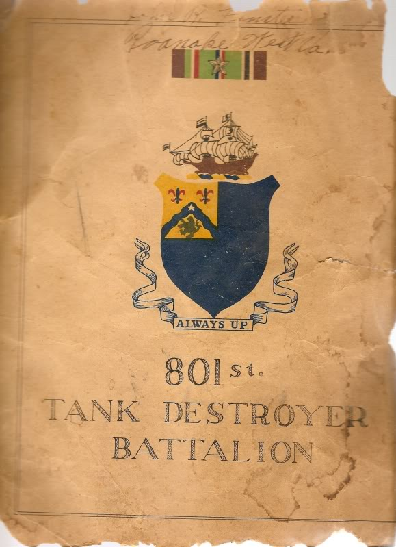 Things from my Uncle Russel's time in the 801st Tank Destroyer Bn. in WW2 Scan0020