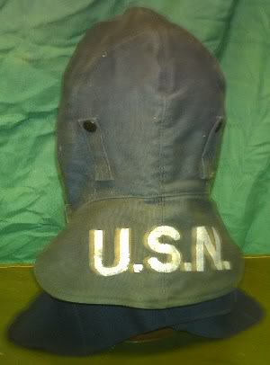 WW2 USN Cold/Foul Weather Mask  & Hat PICT0050