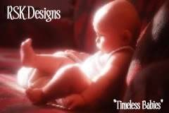 "Welcome to RSK Designs ""Timeless Babies.""   RSKDesignsAuctionLogo"
