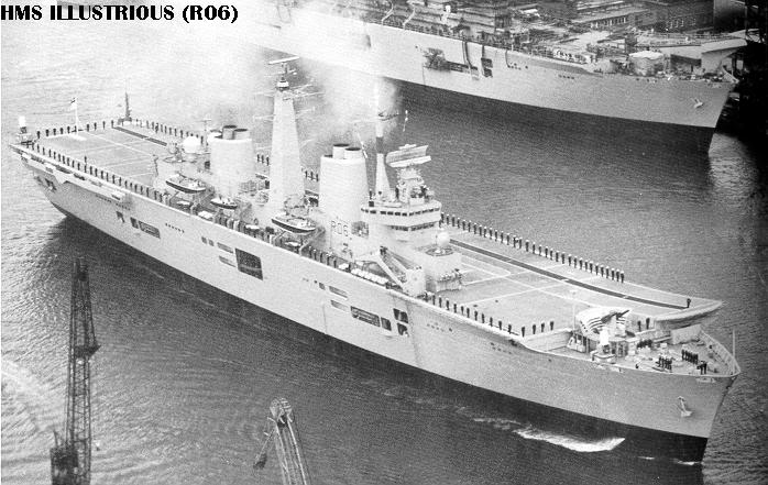HMS Invincible and the Malvinas War in 1982 - Page 2 Illustriouswithwhiteensign