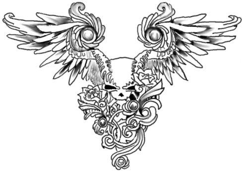 Mikko's Sketchpad Winged_Skull