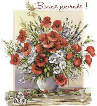 des bonjour Fleuri