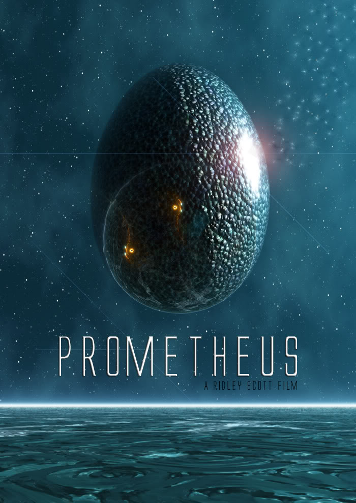 Carteles no oficiales de Prometeo (en ingles) hechos por mi Prometheusridleyscottalien5night