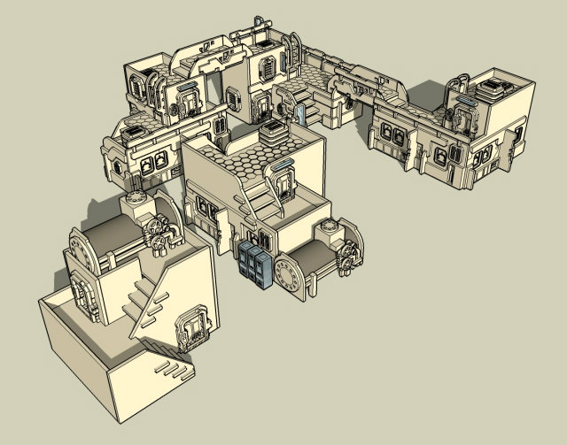 New Space Elf terrain released SH1scifi1001
