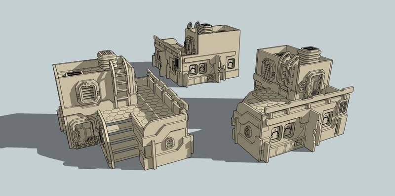 New Space Elf terrain released Building001