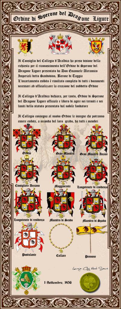 Registos do Colégio Heráldico Italiano DragoneLigure2
