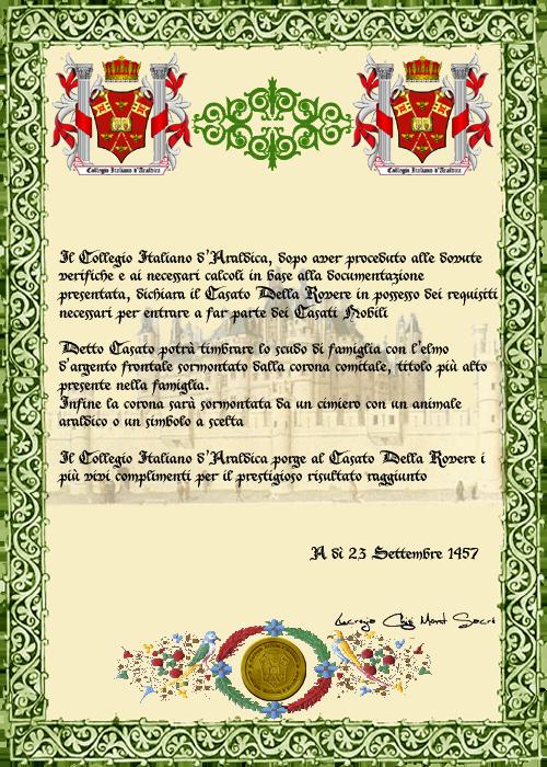 Registos do Colégio Heráldico Italiano DellaRovere