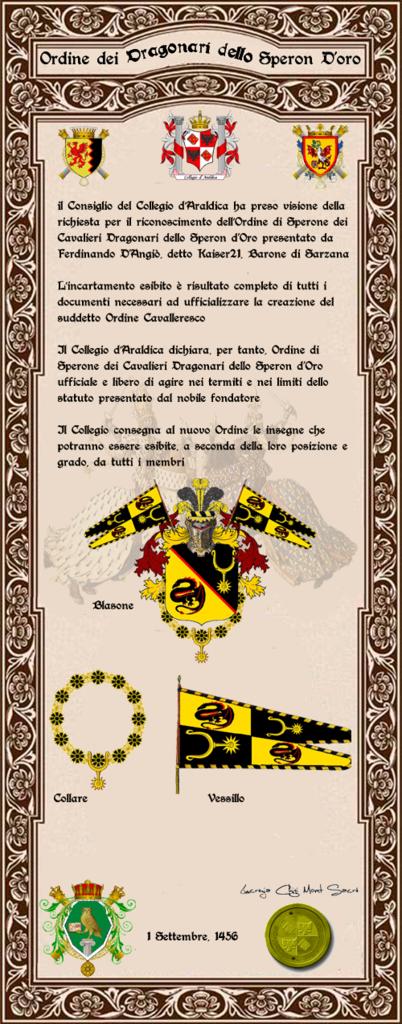 Registos do Colégio Heráldico Italiano Ordinesperone