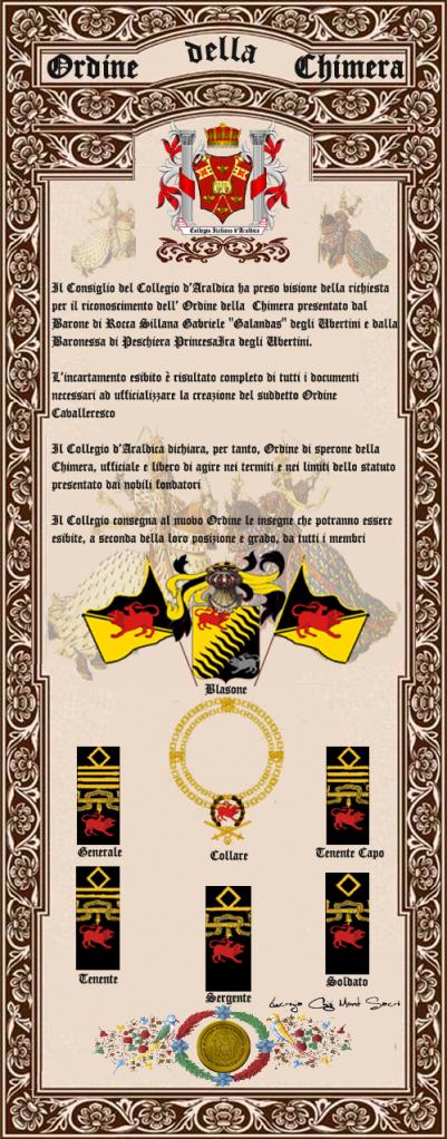 Registos do Colégio Heráldico Italiano Chimeracopia