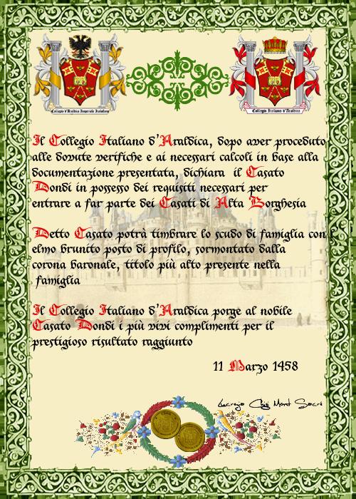 Registos do Colégio Heráldico Italiano Dondicopia