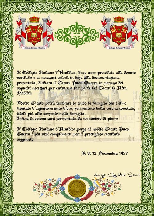 Registos do Colégio Heráldico Italiano PucciGuerra