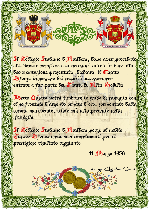 Registos do Colégio Heráldico Italiano Sforza