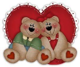 Section Je t'aime, amour & coeurs 2bearsheartcute