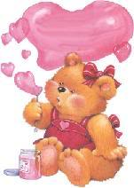 Section Je t'aime, amour & coeurs Bearblowheartbubble