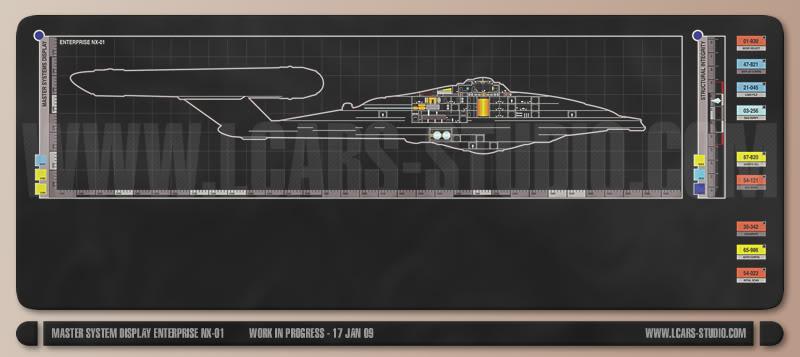 Enterprise NX-01 LCARS MSD Enterprise-NX-08-800