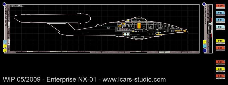 Enterprise NX-01 LCARS MSD Wip05-09-04