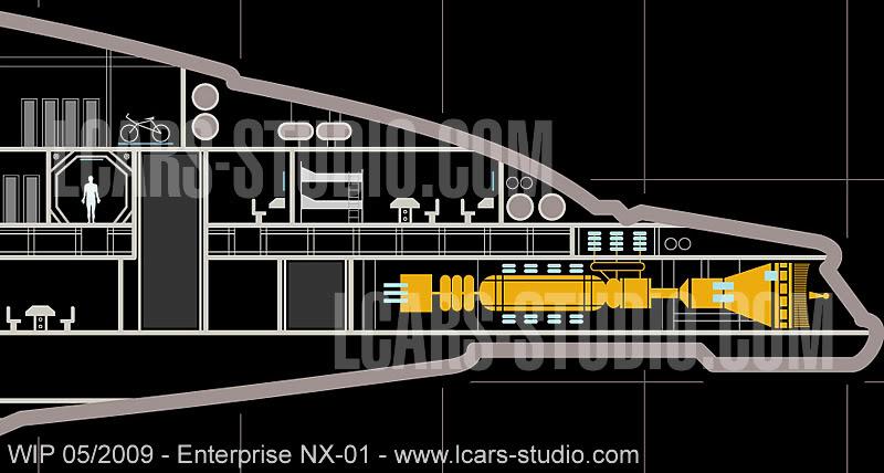 Enterprise NX-01 LCARS MSD Wip05-09-05