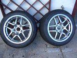 Chrome C5 Z06 wheels w. 275/40/17 Nitto DRs, plus used tires Th_P1040653