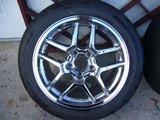 Chrome C5 Z06 wheels w. 275/40/17 Nitto DRs, plus used tires Th_P1040654