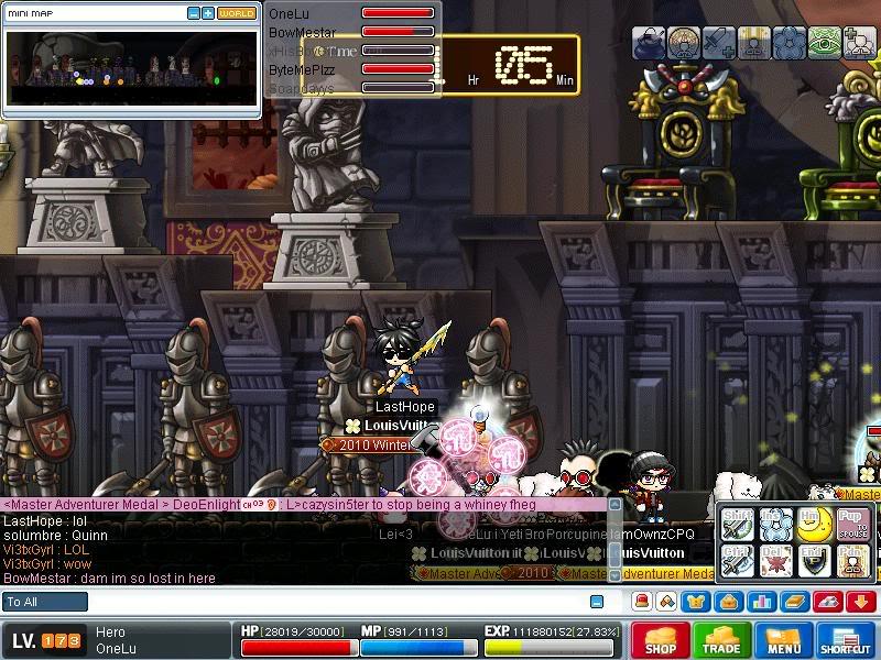 Screenshots of CWKPQ. Maple0033-3