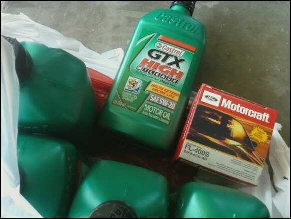 Day at the garage Oilchange