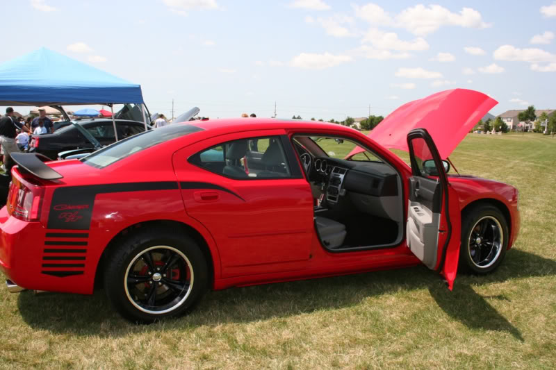 LITH Car Show 8/2/2009 LadyInRed_2