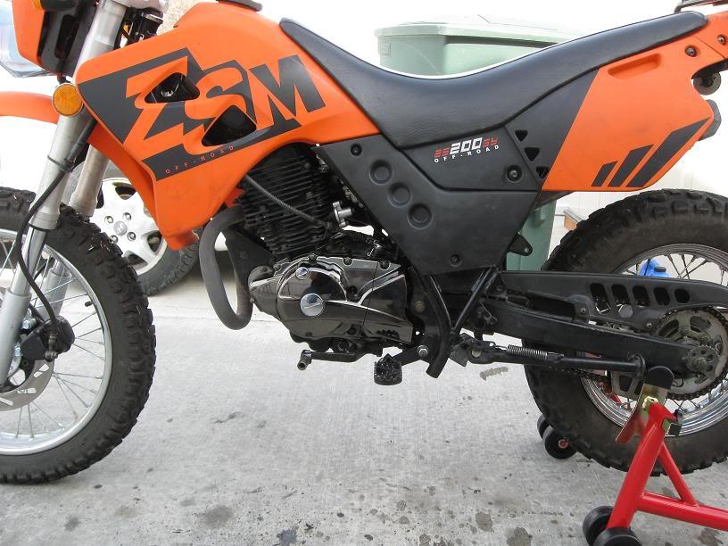 Тюнинг левой крышки картера на Zongshen LZX 200 S  Readytoride
