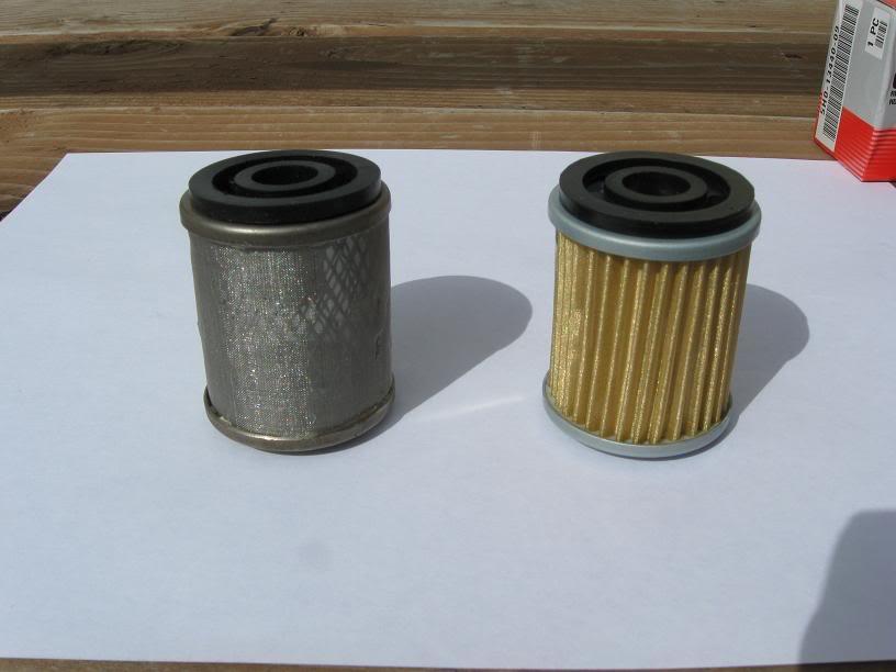 Замена металлического сетчатого маслофильтра на бумажный. OilFilters003
