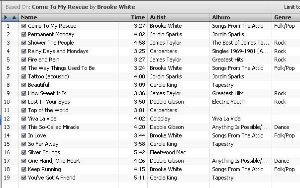 iTunes 8 Experiment.  What does it suggest for Brooke? ItunesCometomyRescue