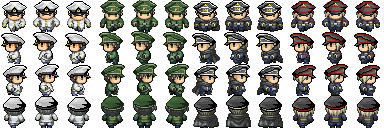 [VX/ACE] Charas Futuristas MilitaryuniformscrTsubakicamellia