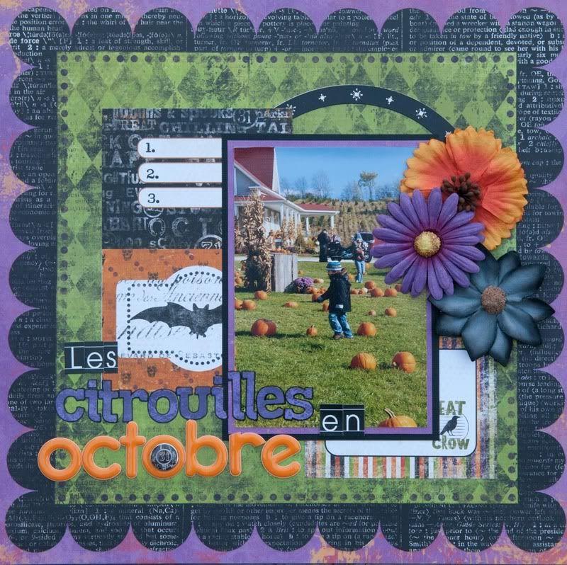 17 octobre Challenge Combo couleurs Citrouilles